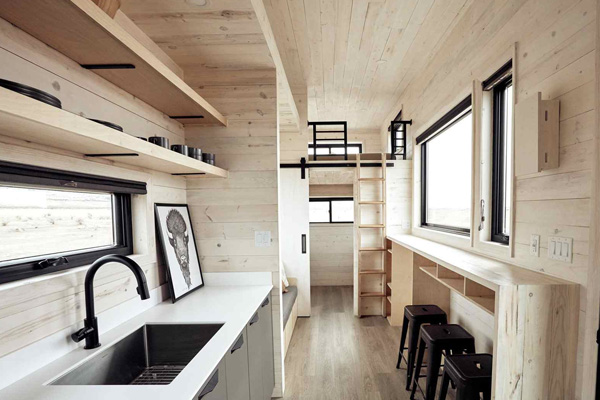 Tiny House Life in Amarillo from a Shell Kit
